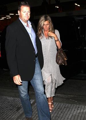 Jennifer Aniston - Leaves Bette Midler's Broadway play in New York City (10.05.2013)