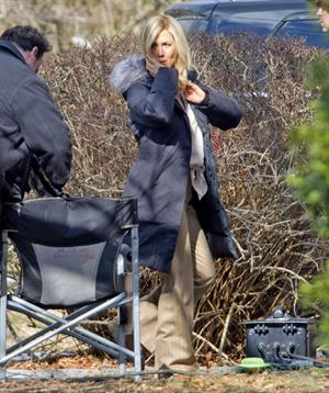 Jennifer Aniston - On the set of the Untitled Elmore Leonard Project in Connecticut (06.02.2013)
