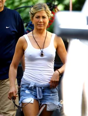 Jennifer Aniston On the Set of 'We're The Millers' in North Carolina on August 2, 2012