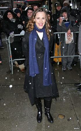 Jennifer Garner arriving at the Good Morning America Studios in New York City February 10, 2010