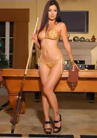 Kim Lee in a bikini