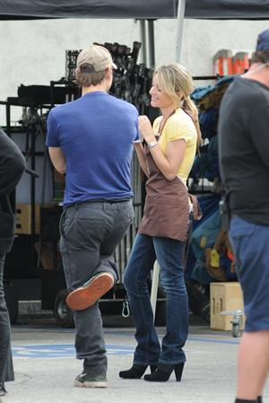Jessalyn Gilsig on  Glee  set in L.A. - March 30, 2010