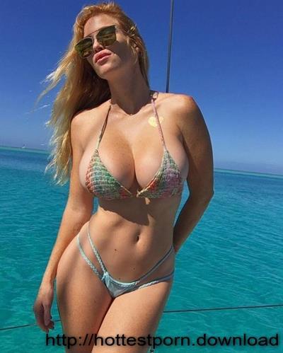Elizabeth Ostrander in a bikini