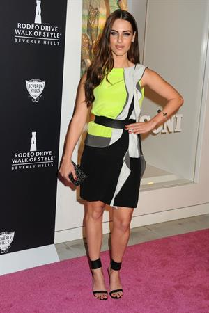 Jessica Lowndes Rodeo Drive Walk of Style Award Honoring Iman and Missoni on October 23, 2011