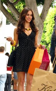 Jessica Lowndes 90210 set Robertson Boulevard in Beverly Hills September 7th, 2010