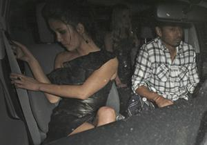 Jessica Szohr and Nicky Hilton outside Sur Lounge in West Hollywood on March 27, 2012