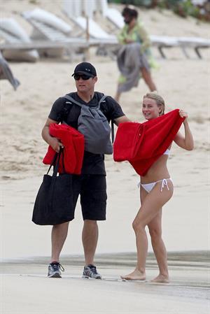 Julianne Hough bikini candids in St Barts 1/4/13