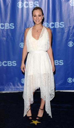 Kaley Cuoco CBS Upfront at the tent at Lincoln Center on May 18, 2011