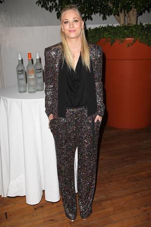 Kaley Cuoco Attends the Voli Light Vodka Benefit at SkyBar Mondrian in LA 06.12.12