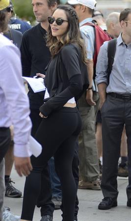 Katharine McPhee - On set of Smash in New York - September 14, 2012