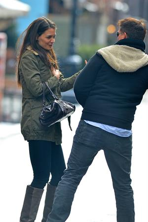 Katie Holmes out and about in New York City on January 26, 2013