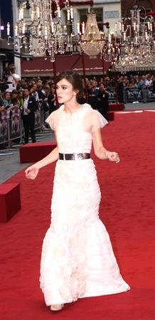 Keira Knightley attending the 'Anna Karenina' UK Premiere - September 4, 2012