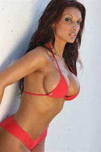 Amrit Dhaliwal in a bikini