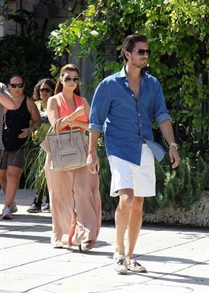 Kourtney Kardashian Leaving Sugarcane Restaurant with Scott Disick after lunch in Miami (October 22, 2012)