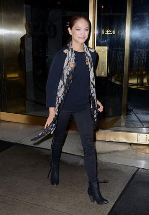 Kristin Kreuk Exits the Pix11 Morning News studios in New York City - October 10, 2012