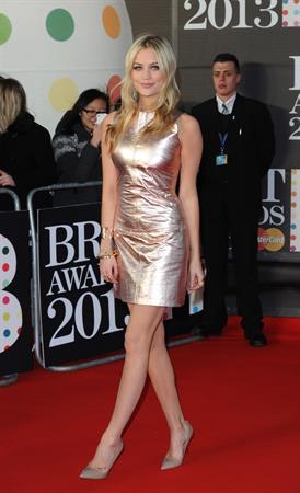 Laura Whitmore BRIT Awards, Feb 20, 2013