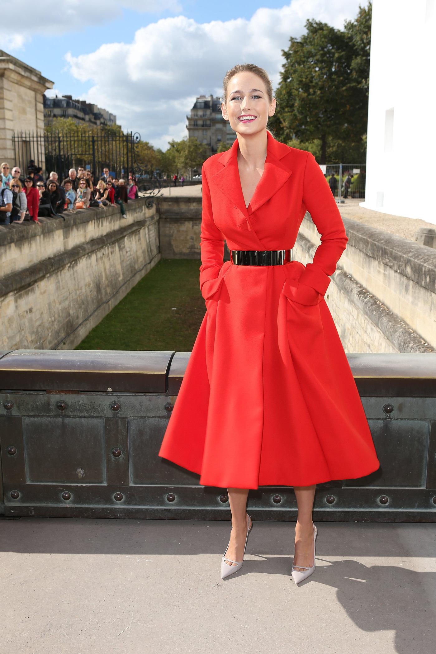 Leelee Sobieski at Christian Dior fashion show Paris 9/28/12