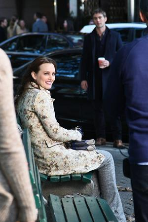 Leighton Meester  Set of Gossip Girl in Central Park - September 24, 2012