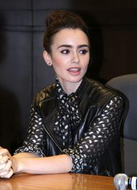 Lily Collins  Clockwork Princess  book release event in Los Angeles - March 21, 2013