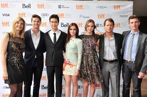 Lily Collins - Writers premiere at the Toronto Film Festival - September 9,2012