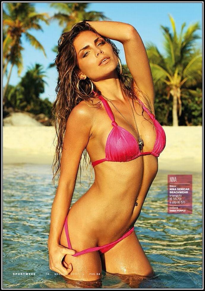 Nina Senicar in a bikini