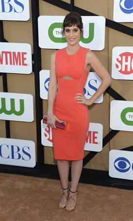 Lizzy Caplan CW, CBS And Showtime 2013 Summer TCA Party, July 29, 2013