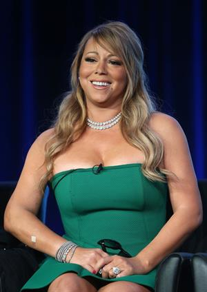 Mariah Carey American Idol panel during 2013 Winter TCA Tour in Pasadena 08.01.13