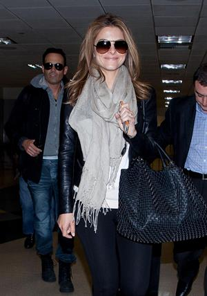 Maria Menounos arrives at LAX Airport on March 10, 2013