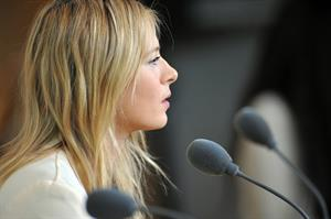 Maria Sharapova Speaks during a press conference at the Roland Garros May 24, 2013