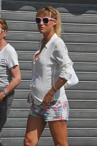 Michelle Hunziker out in Milani August 30, 2013