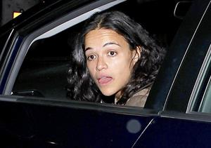 Michelle Rodriguez leaving the Madeo Restaurant in Hollywood, Los Angeles on April 3, 2013