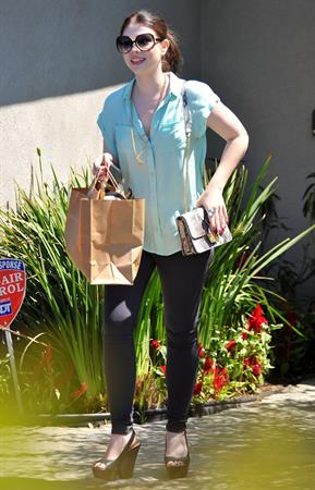 Michelle Trachtenberg - Leaving a party in Brentwood - August 12, 2012