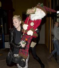 Miley Cyrus Leaving Rite Aid in Studio City on December 22, 2012