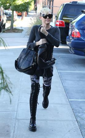 Miley Cyrus out and about in Burbank 10/26/12