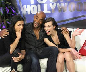 Michelle Rodriguez - Visit Young Hollywood Studio - August 25, 2012