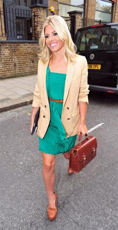 Mollie King leaving springs studios in London on July 27, 2011