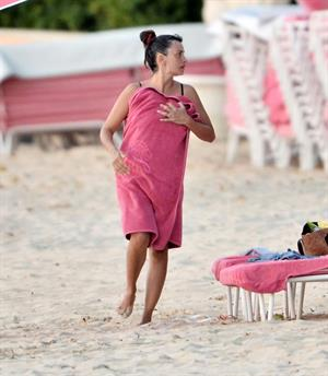 Penelope Cruz holidaying in Barbados 3/13/13