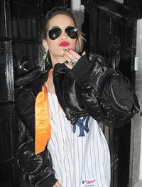 Rita Ora - leaving the BBC Maida Vale Studios in London 10 August 2012
