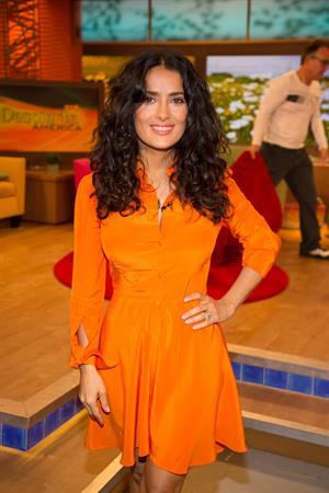 Salma Hayek Univision's Despierta America in Miami 08.07.13