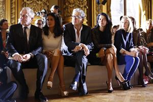 Salma Hayek at the Stella McCartney fashion show at Paris Fashion Week - Sep. 30, 2013