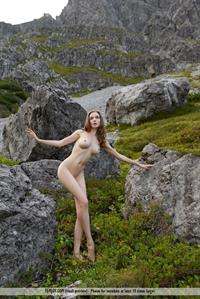 Mariposa poses nude outside for FemJoy