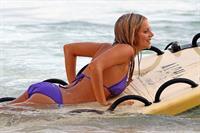 Samara Weaving in a bikini