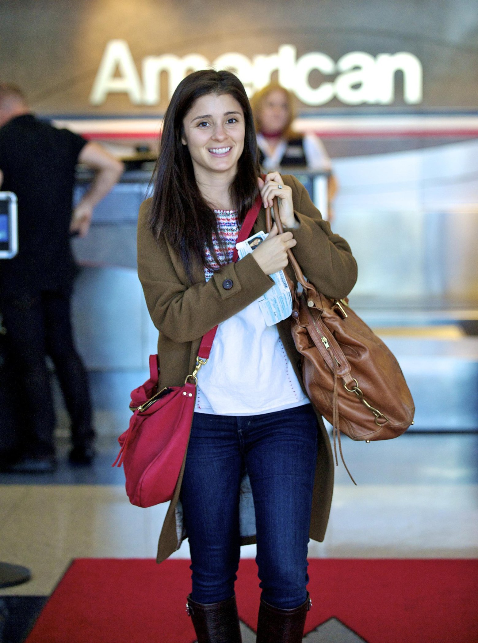 Shiri Appleby departing from LA Airport Sept 30, 2012