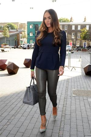 Tamara Ecclestone leaving an office building in London October 4, 2012