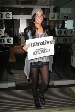 Tulisa Contostavlos Radio 1 in London - October 26, 2012