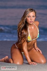Nicole Mejia in a bikini