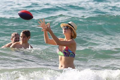 Candice Accola in bikini on the beach in Maui, April 15, 2014