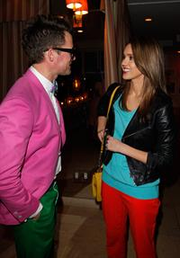 Minka Kelly, Jessica Alba and Mandy Moore at a dinner to celebrate Brad Goreski's book launch March 14, 2012