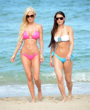 Anais Zanotti and Ana Braga in bikinis on the beach in Miami  August 26, 2014