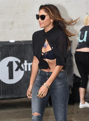Nicole Scherzinger arriving at BBC Radio 1 studio August 26, 2014